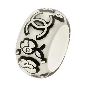 Chanel Black & White Strass Ring