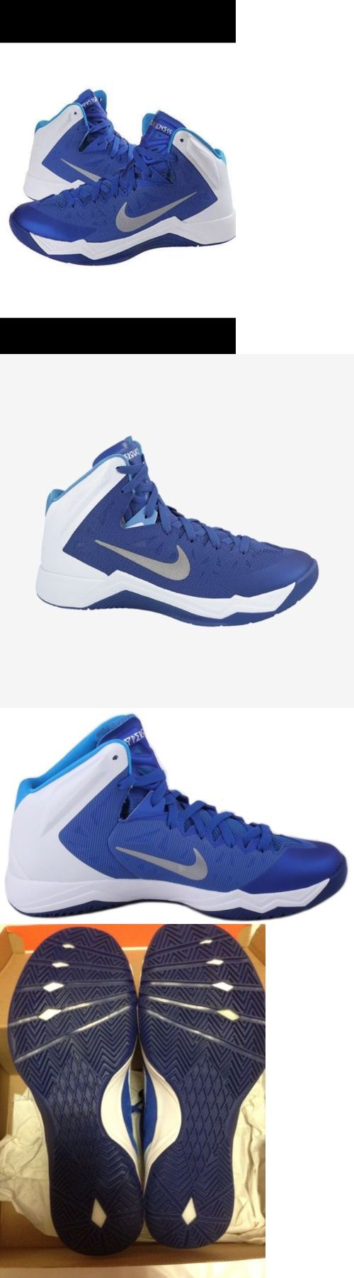 Basketball: New Mens Nike Zoom Hyper Quickness Basketball Shoes Blue White Size 10 $105 -> BUY IT NOW ONLY: $34.99 on eBay!
