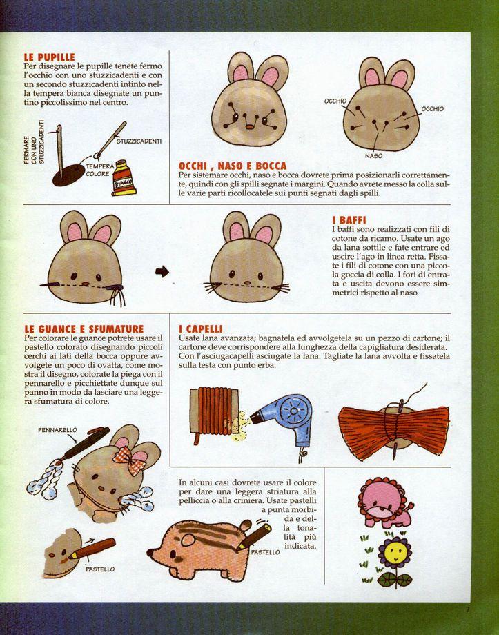 Cartamodelli e schemi per animali di pannolenci   Schemi animali pannolenci   Foto