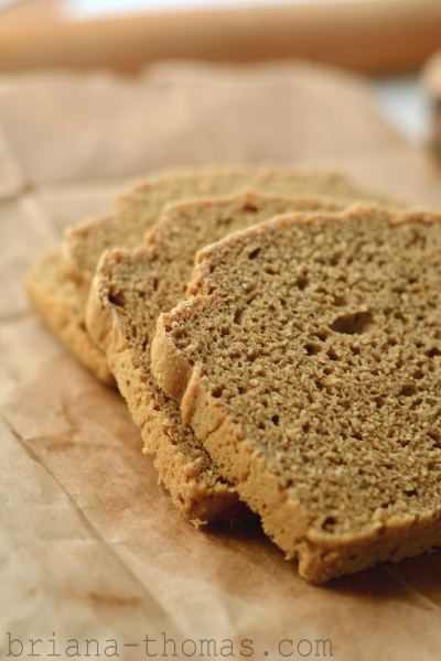 Homemade Bread, Trim Healthy Mama - E. Similar to Gwen's, but uses oatmeal & other tweaks. From Briana Thomas.
