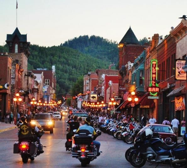 Spearfish Canyon to Deadwood - Riding at the Sturgis #Motorcycle Rally http://esr.cc/1jVl5J9  #EatSleepRIDE #motorcycletrip #motorcycleroads