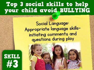 Teach your child to ask questions and make comments during play. For more ways to help your child avoid bullying visit http://sbsaba.com