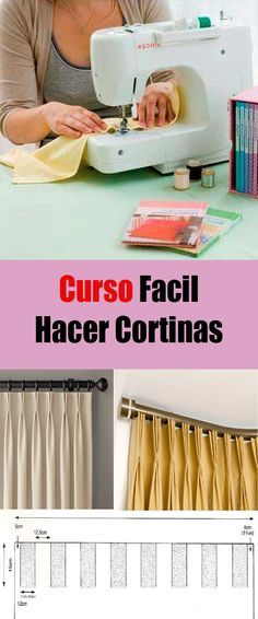 Aprende hacer cortinas con pliegues  en video paso a paso #cortinas #costura #co…