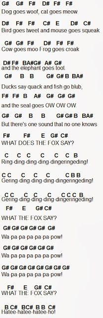 Flute Sheet Music: The Fox
