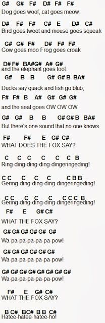 Flute Sheet Music: The Fox