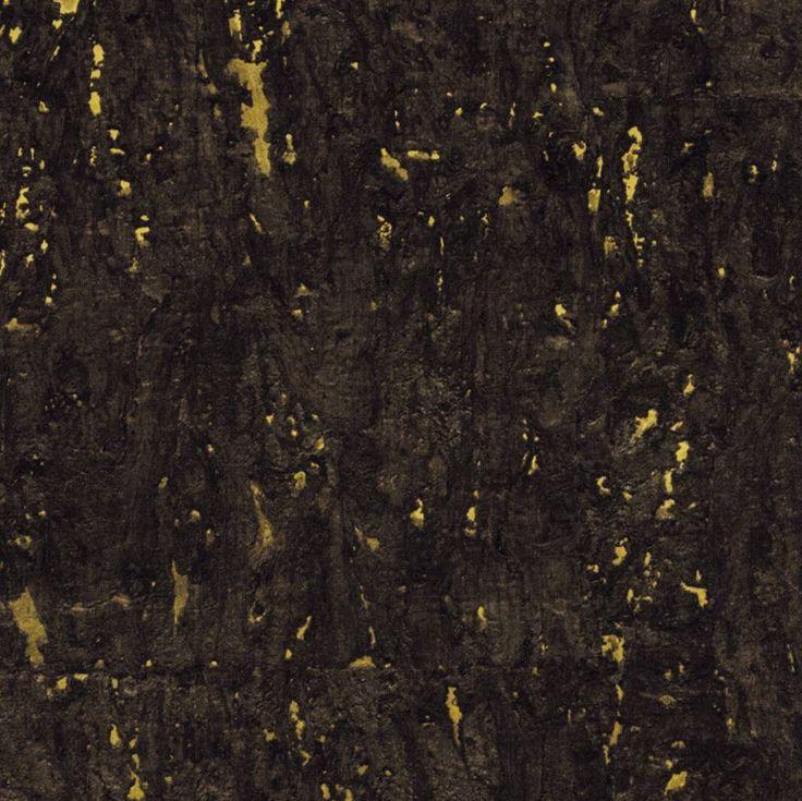 Uit de collectie eclat van elitis bijzonder mooi handgemaakt behang van kurk op papier een - Behang van de jaren ...