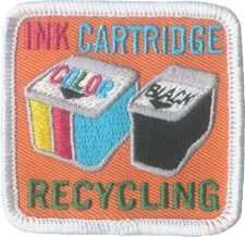 Ink Cartridge Recycling Fun Patch