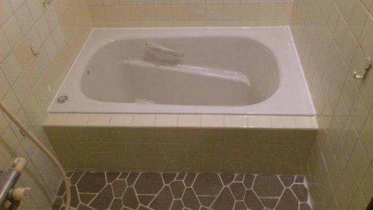タイル風呂(在来浴室)浴槽入替えの施工例