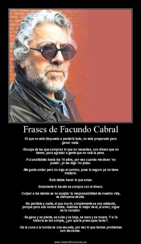 Frases de Facundo Cabral!! - Taringa! | Frases | Pinterest ...
