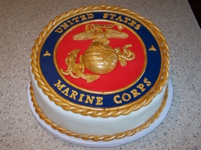 Marine Corps Cake By CrissyB on CakeCentral.com
