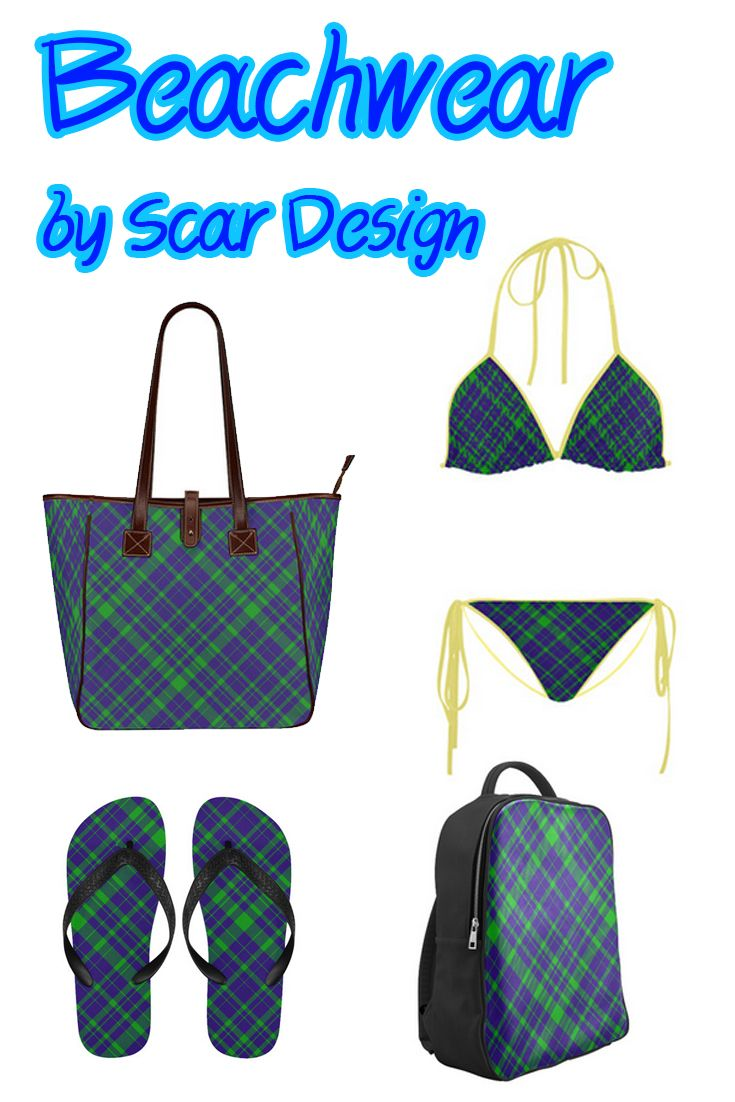 Plaid Beachwear Set by Scar Design.  http://www.artsadd.com/shop/diagonal_green_purple_plaid_modern_style_custom_tote_bag_13_two_sides-1565828.html  #beachwear #beachwear2017 #beach #redbikini #swimwear #bikini #beachbag #summer #summer2017 #scardesign #plaid #purplebikini #greenbikini #plaidbikini #plaidbag #plaidflipflops #fashion #summerfashion