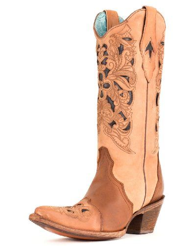 Corral Women's Black & Tan Tooled Inlay Cowgirl Boot Pointed Toe Tan 8 M 8 M US Corral Boots,http://www.amazon.com/dp/B009AGE1GE/ref=cm_sw_r_pi_dp_05Pvtb1764CE9DXK