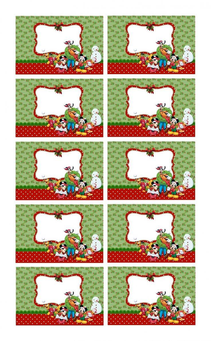 Créer étiquettes de Noël à coller sur les cadeaux