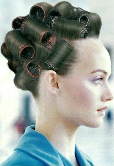 So delightful he looks all rolled up in curlers