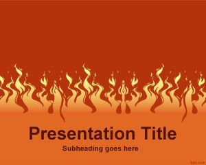12 best st valentines powerpoint templates images on pinterest fire powerpoint template toneelgroepblik Image collections