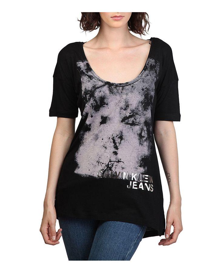 Calvin klein t-shirt - maniche corte - 100% viscosa - lavare a 40° c - T-shirt donna taxi Nero