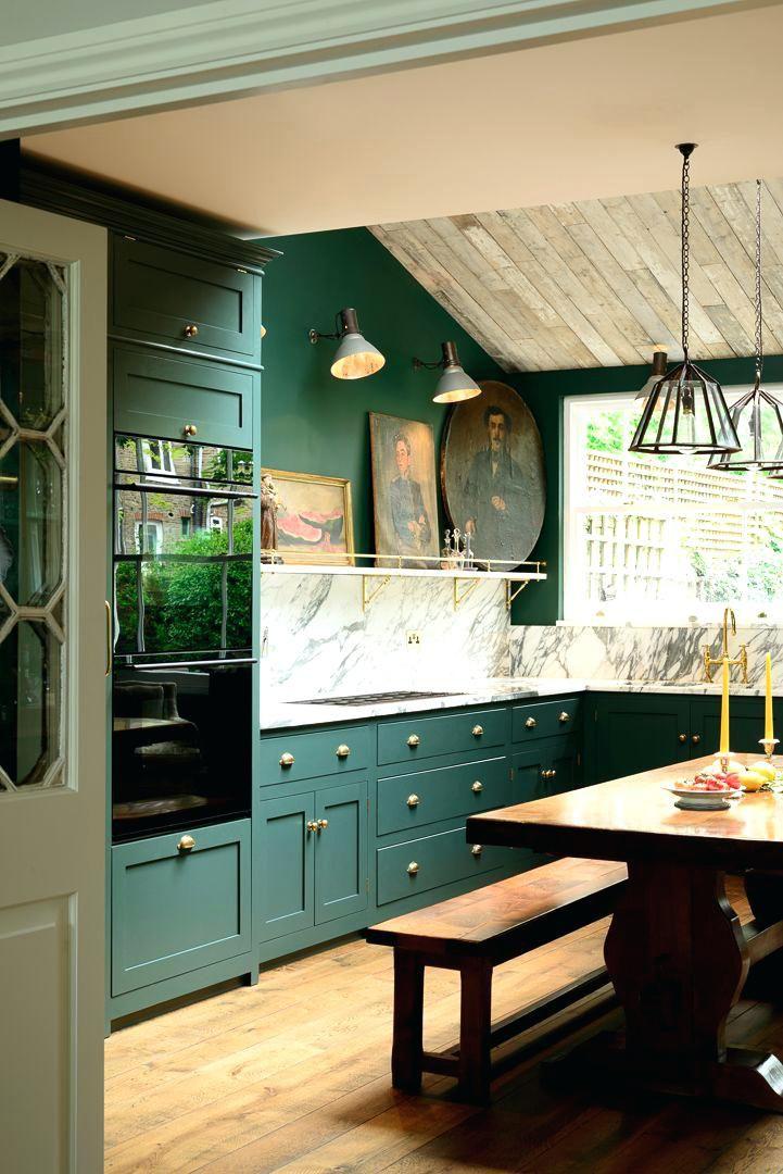dark colored kitchen cabinets deep dark green cabinets and walls ...