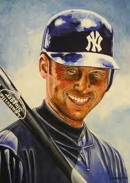 Derek Jeter Rookie Card Painting