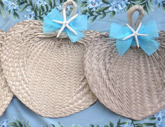 Beach Wedding Custom Fan - favours?