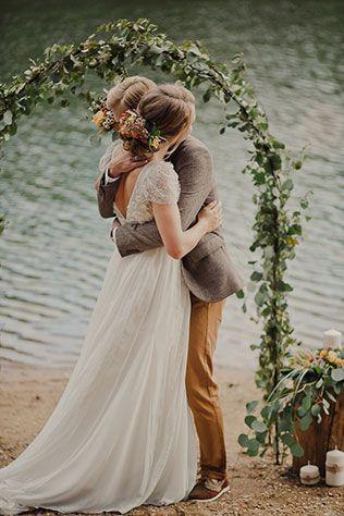 Свадьба в стиле эко-рустик, церемония
