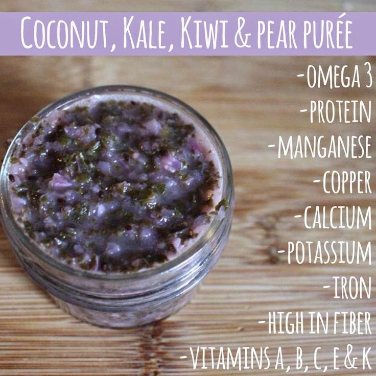 Kale Puree Pear PureeToddler Food RecipesHomemade
