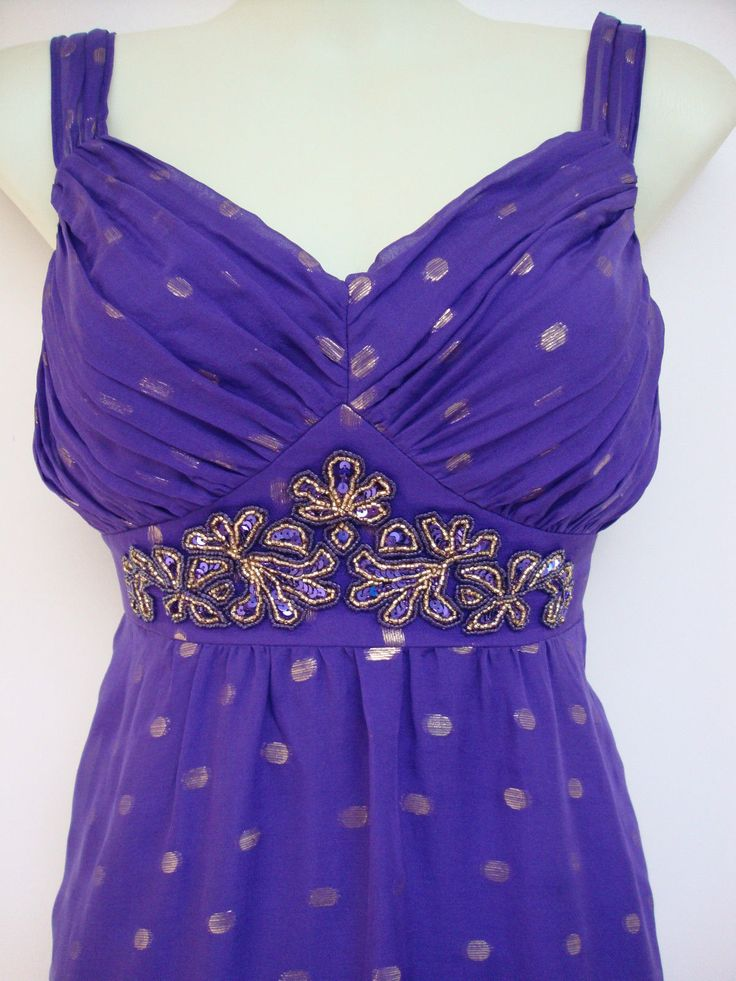 Monsoon Pandora Purple Silk Dress 12 NEW RRP £120 | eBay | Dress ...