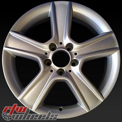 "Mercedes C300 wheels for sale 2010-2011. 17"" Silver rims 85100 - http://www.rtwwheels.com/store/shop/mercedes-c300-wheels-for-sale-17-silver-85100/"