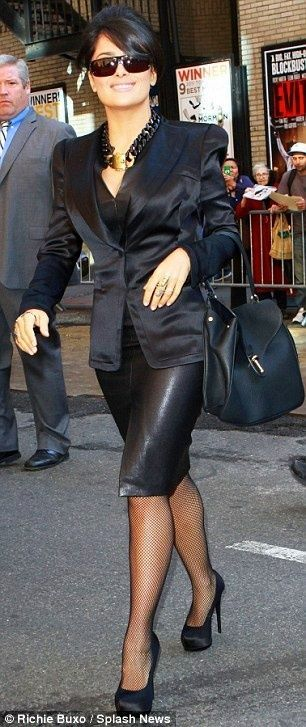 Salma Hayek - powerful in all black