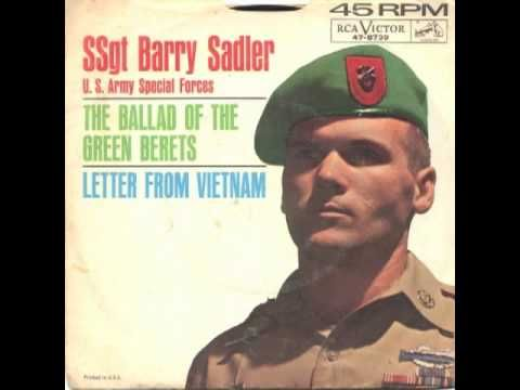Ballad of the Green Berets by Staff Sgt. Barry Sadler'  Still has meaning today...esp. after 9-11