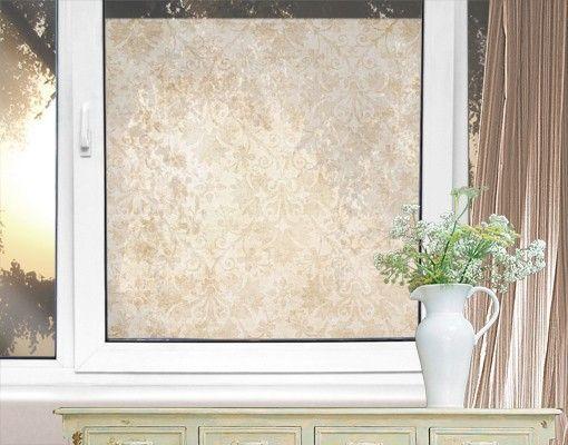 Fensterfolie - Sichtschutz Fenster Antiker Damast - Fensterbilder