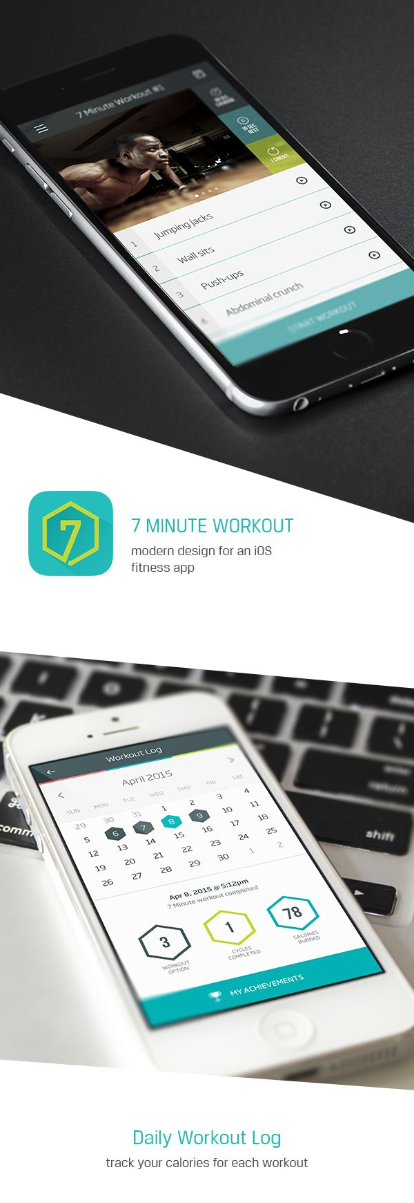 7 Minute Workout on Behance