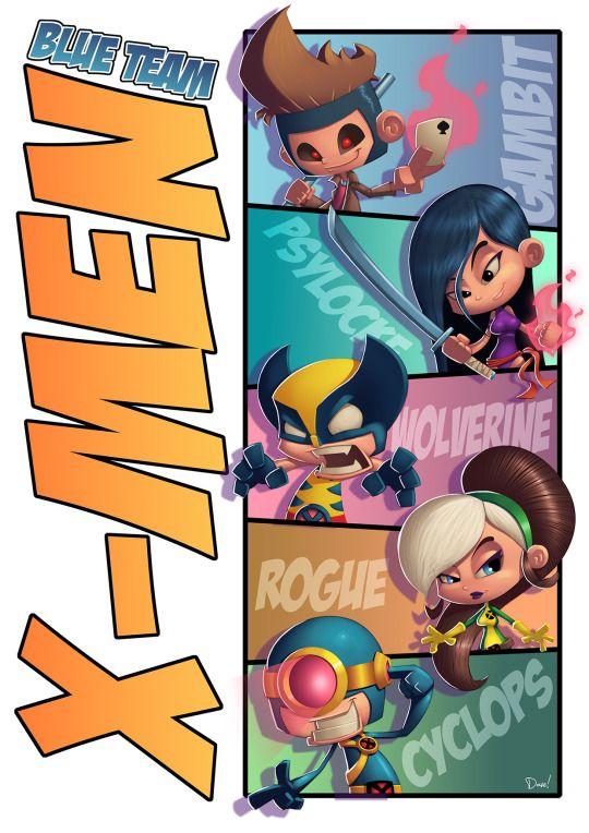 X-Men Blue Team Created by Dave Atze
