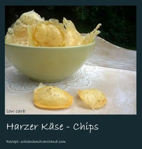 Harzer Käsechips low carb Hier kommt wieder eine low carb Snack-Idee einfach – schnell – herzhaft lecker Harzer Käse ist ein Sauermilchkäse aus Sauermilchquark, mit Kümmel gewürzt Nährw…