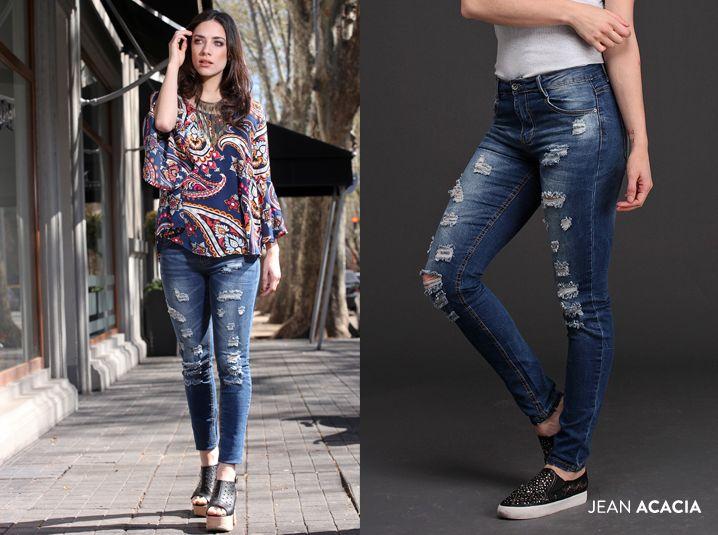 El Jean Acacia es estrella de la Nueva Colección: Denim + roturas. #Trendy #Cool #Casual