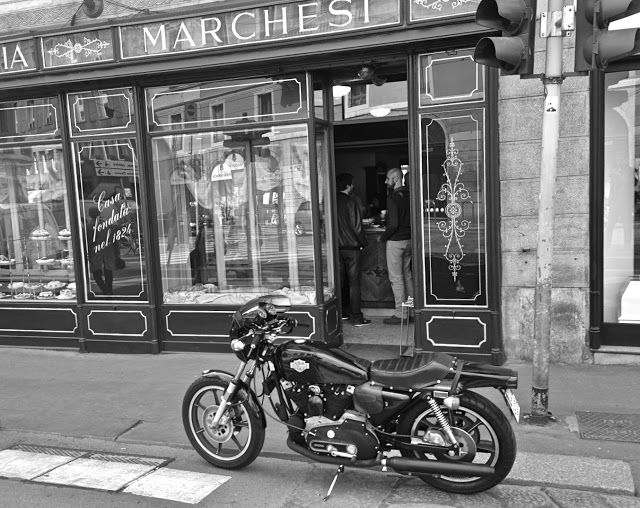 milano motorcycle blog ,pasticceria marchesi on www.Motobast.com