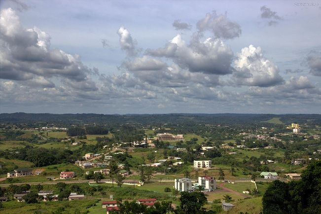 """Franceville is one of the four largest cities in Gabon, with a population of around 110,568 (2013 census) people. It lies on the River Mpassa and at the end of the Trans-Gabon Railway and the N3 road. It grew from a village named Masuku when Pierre Savorgnan de Brazza chose it to resettle former slaves and renamed it """"Francheville"""" (meaning """"city of the freed"""" in French) in 1880. The city later came to be called Franceville."""