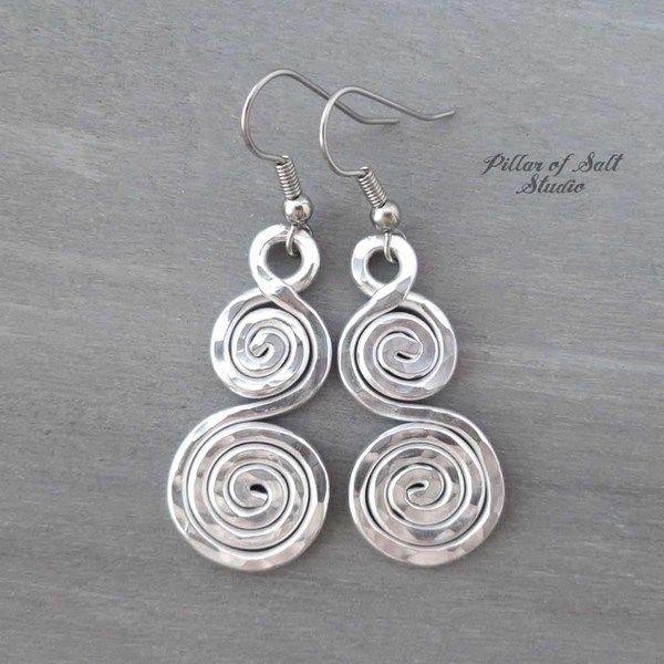 c82ad32dc Aluminum earrings double spiral curlique | Earrings | Pinterest ...