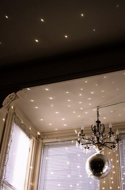 chandelier + disco