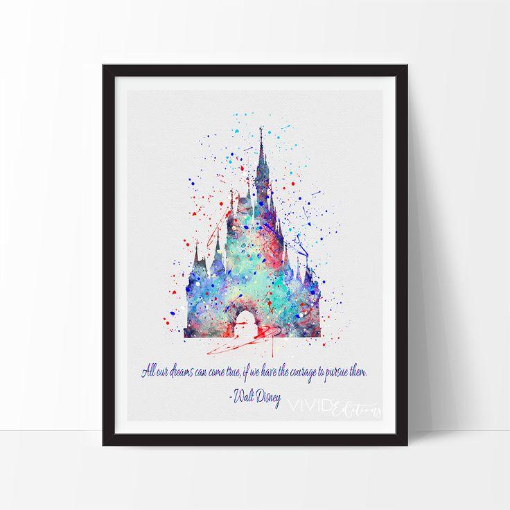 NEW! Walt Disney Quote Print, Cinderella's Castle -- exclusively at VividEditions.com