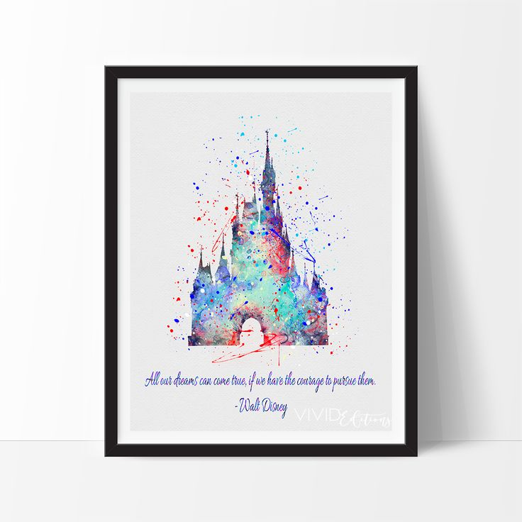 NEW! Walt Disney Quote Print, Cinderella's Castle -- exclusively at VividEditions.com