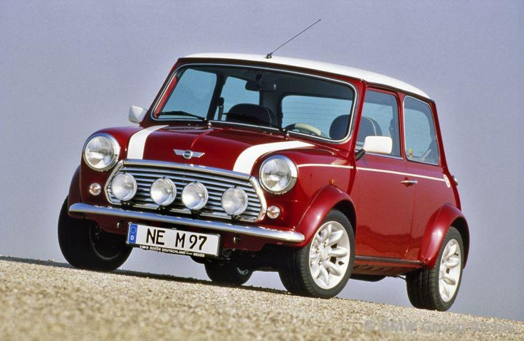 Such a classic shot. Mini Cooper 1.3i, October 1996. Picture © BMW Group Archive