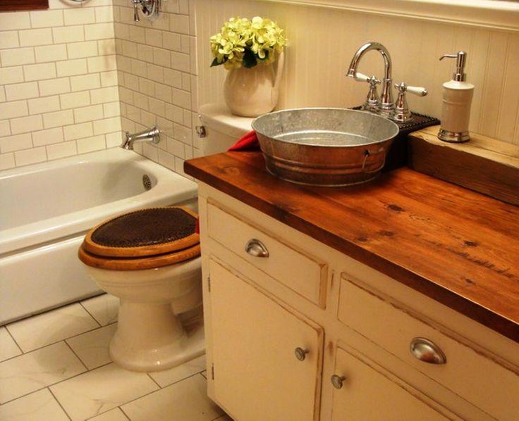 273 best bathroom ideas images on pinterest bathroom for Old farmhouse bathroom ideas