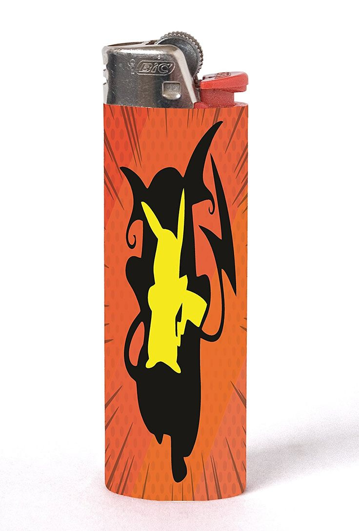Pokemon Pikachu Raichu Evolution Silhouette Design Printed Image Artwork 2 PACK Vinyl Decal Wrap Skin Stickers for Bic Lighters by Trendy Accessories available at https://www.amazon.com/dp/B06XWSSBPC #vinyldecasticker #biclighters #lighteraccessories #pokemon