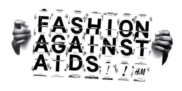 Campaign logo for the fifth edition of Fashion Against AIDS - for H&M