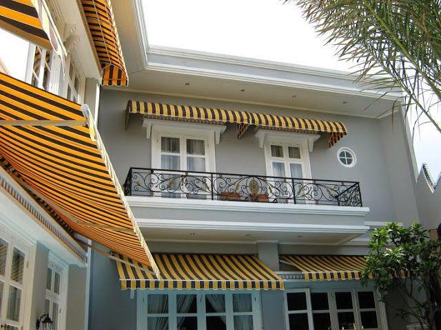 Kanopi kain dan Awning gulung warna kuning