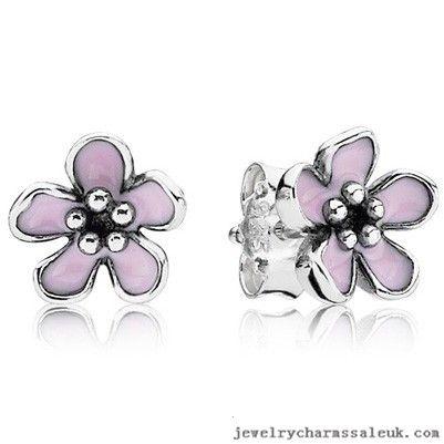 Pandora Silver Cherry Blossom Flower Studs 791099
