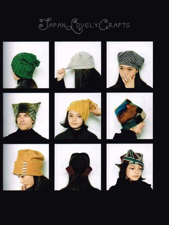 Platz Tuch Hut & Mütze japanische Nähen Musterbuch für | Muster bücher, Mütze nähen und Muster