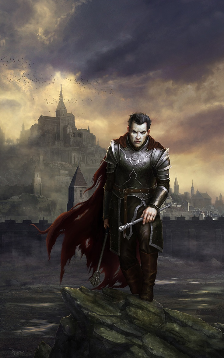 Order of the White Flame Templar by Pirkka Harvala. Awesome depiction about dark paladin, or a knight. Awesome!
