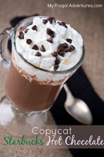 Copycat Starbucks Hot Chocolate Recipe- this is so simple and it is the BEST hot chocolate recipe.  You will never go back to a packaged mix.