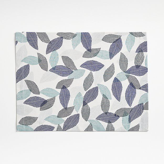 Rustle Blue Placemat Reviews Crate And Barrel Crate And Barrel Placemats Linen Placemats